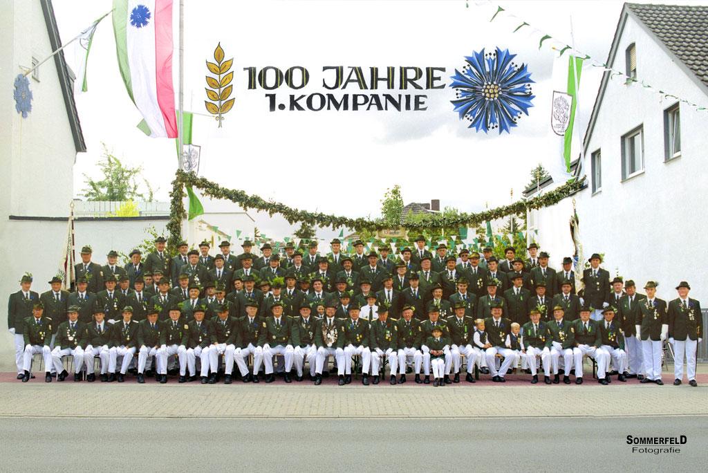 Foto zum 100 Jährigen bestehen der 1.Kompanie